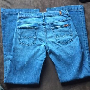 7 For All Mankind Flare Ginger Stitched Jeans 29